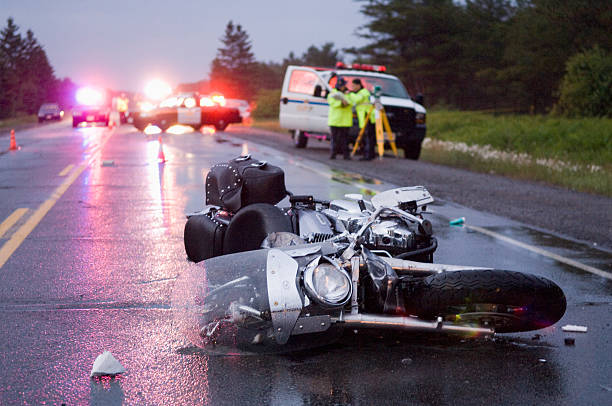 Lieu d'un accident de moto